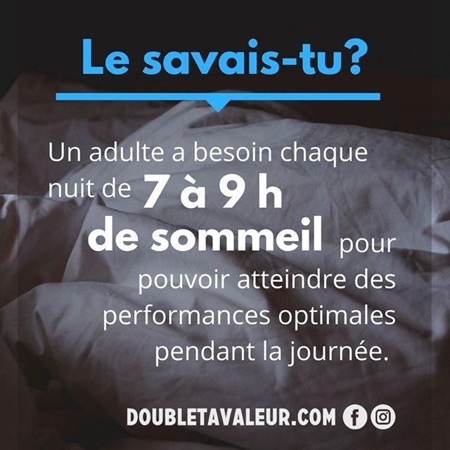 Voilà une bonne raison de Zzz... 😴 #doubletavaleur #doubletavaleur.com #blogue #blog #productivité #efficacité #gtd #getthingsdone #travail #emploi #entrepreneur #intrapreneur #entrepreneuriat #intrapreneuriat #qc #québec #sommeil
