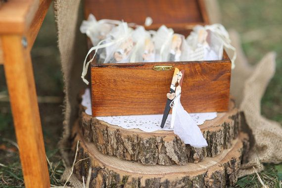 Personalised wedding favors clothespins B&W by PerfectTweak