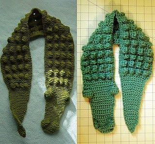 Kids Gator Scarf - Free crochet tutorial/pattern by nanette