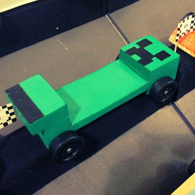 Minecraft Creeper Pinewood Derby Car ideas for kids