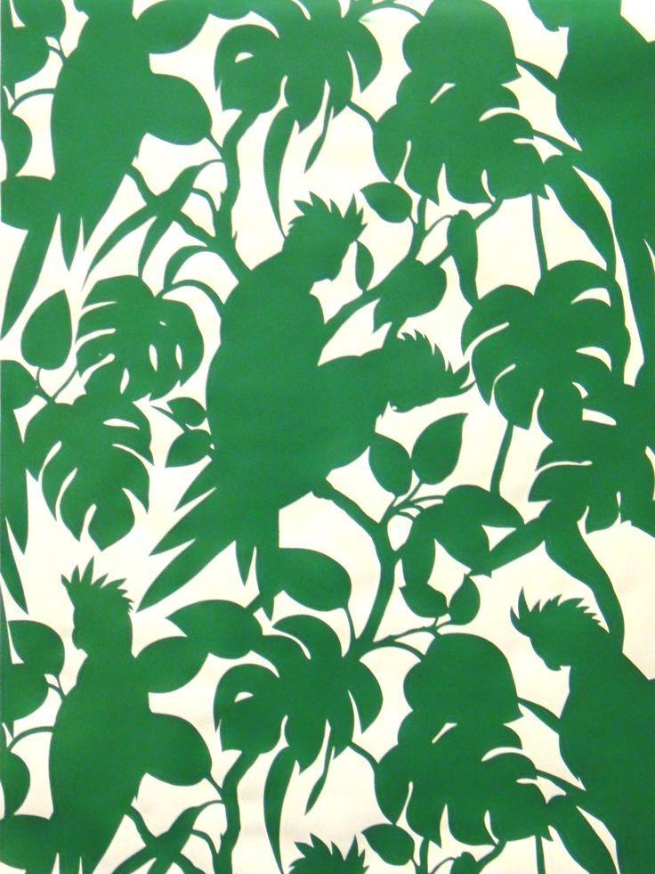 Florence Broadhurst green wallpaper