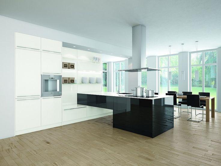 Proline schwarz-weiß Glanzlack (pronorm Küchen)