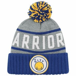 "Golden State Warriors Mitchell & Ness ""The City"" High 5 Cuffed Knit Hat - Grey"