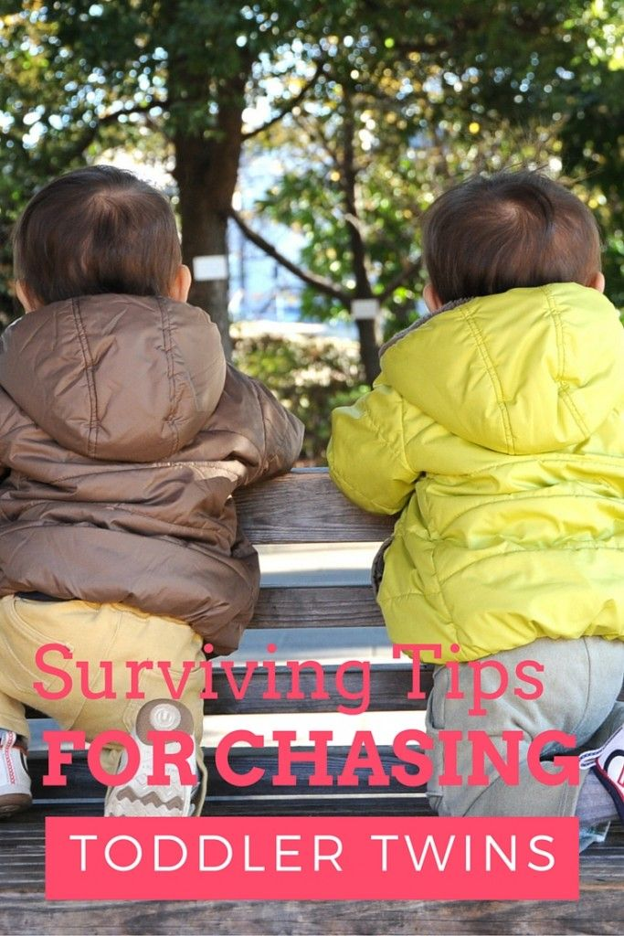 Surviving Tips for Chasing Toddler Twins. Twin Parenting tips for getting outdoors and to the playground.