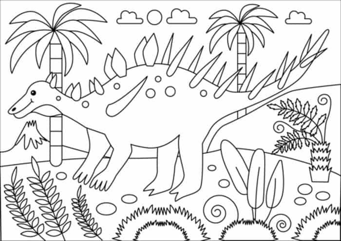 Kentrosaurus Coloring Page Dinosaur Coloring Pages Dinosaur Coloring Coloring Pages
