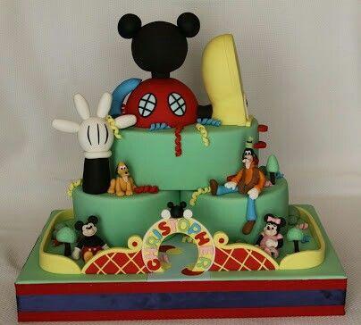 Pastel Mickey Club Housr · TortenMicky Maus Wunderhaus ...