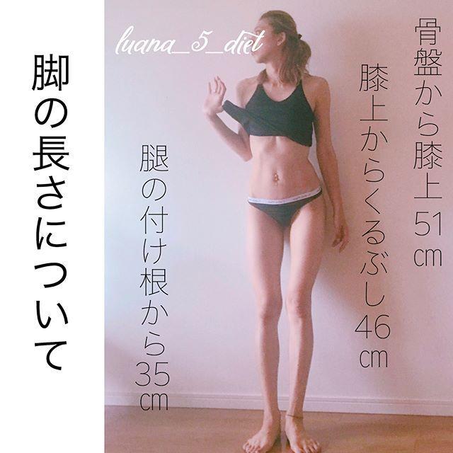 ・ 生理前で絶賛浮腫んでおりますが… ・ ご質問頂いた脚の長さについて☝︎ ・ 測り方がイマイチ分からず… 素人寸法なので大体です😅 ・ 私は身長168㎝で体重が48.5キロあたりをウロウロ𓀀 ・ ・ ダイエットを始めた頃は体重を気にしてメジャーで太さなど測らなかったのが悔やまれます😭 ・ なのでこれから始める方、始めたばかりの方は測ることをお勧めします✨ ・ ・ トレーニングを始めると最初は体重が増えます。 筋肉は脂肪より重いので💦 ・ そして内側に筋肉が付き、その上に脂肪があるので太くなった? と錯覚しますが続けていくと脂肪が燃焼されていきだんだんと細くなっていきますよ❤️ ・ 太もも痩せをしたいのであれば腿の内側、内転筋を鍛えてあげて下さい👌✨ そうすると膝上や横側がキュッとして、メリハリになり細っそりと𓁙𓁙𓁙 ・ 脚痩せの動画は色々載せているのでお時間があれば見て下さい😁❣️ ・ こんなメリハリのないストーンとした大根の様な脚も(笑) ズボラで面倒くさがりの私でもここまで変われたので皆さんも変われるハズ✨ 頑張りましょう😤 #ながらトレ…