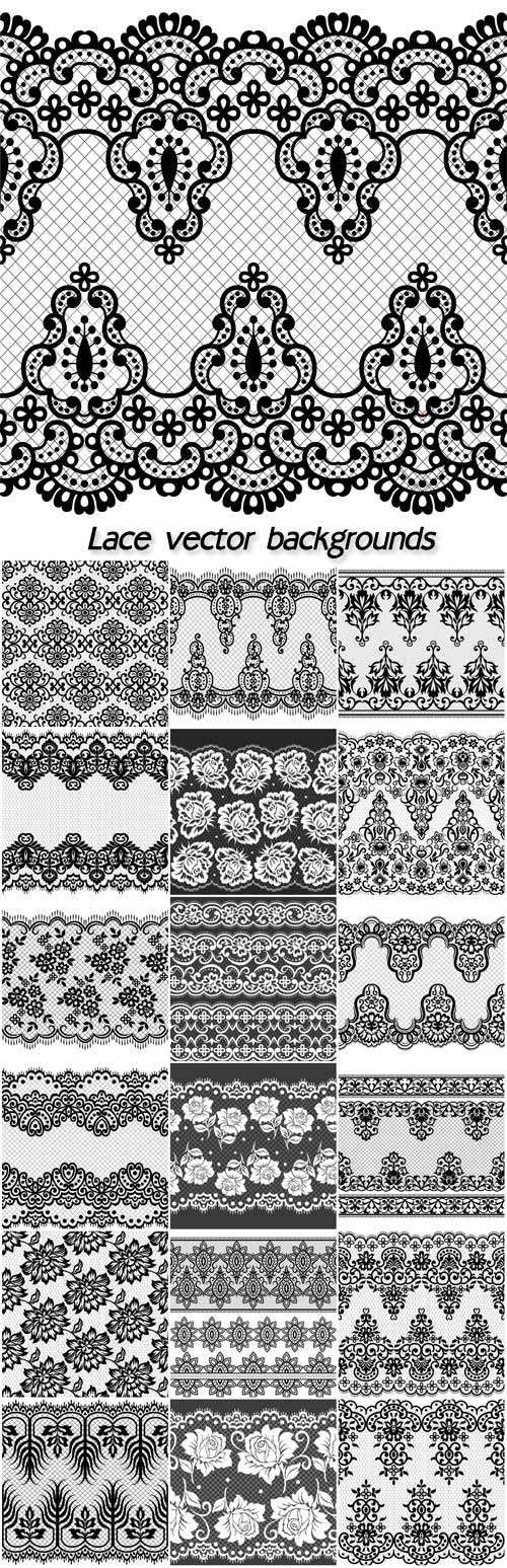 Lace, vector backgrounds with patterns                                                                                                                                                      More
