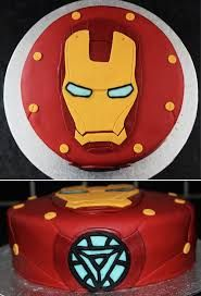 iron man cake with light tutorial - Google Search