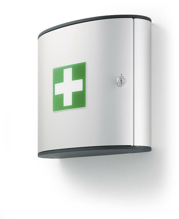 Modern First Aid Cabinets. Available in two sizes with internal compartment for the secure storage of first aid equipment.