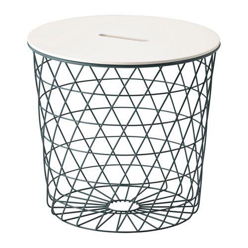 IKEA - KVISTBRO, Table de rangement, , Le panier est idéal pour ranger couvertures, oreillers ou journaux, mais il peut également rester vide…