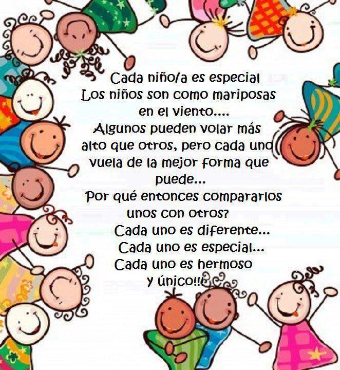 Los niños son como mariposas en el viento...no los compares. #frase #educación