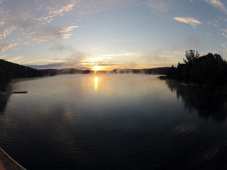Sunrise over Little Trading Bay in Dorset, Ontario. http://www.dorsetcanada.com