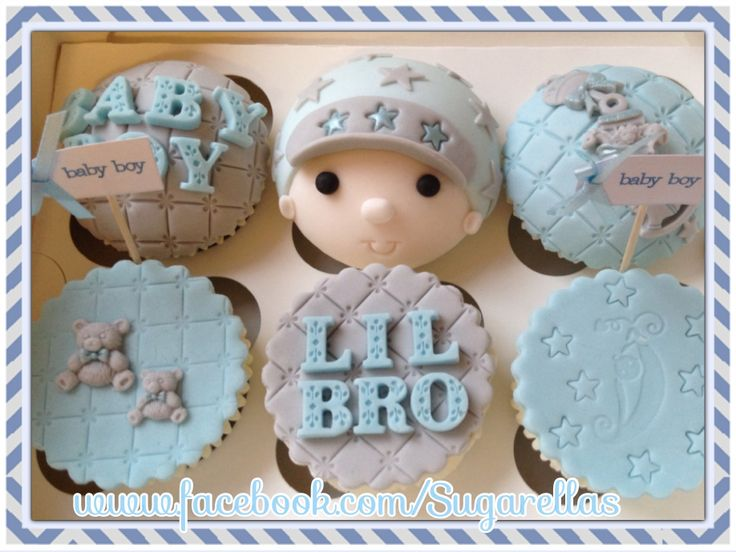 Baby brother reveal cupcakes....brought by a bump for it's siblings ;) how cute!!!!