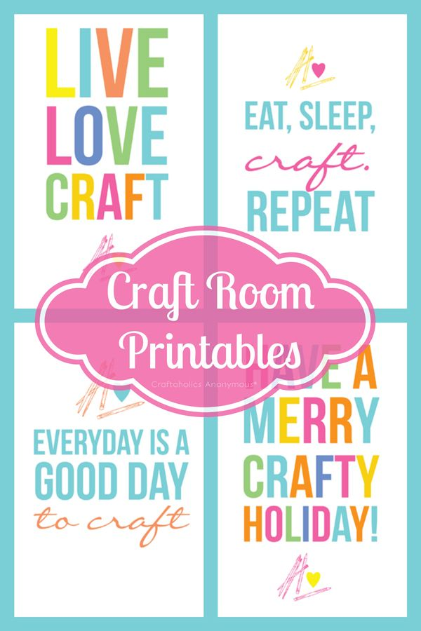 Colorful Free Craft Room Printables from @Linda {Craftaholics Anonymous®}