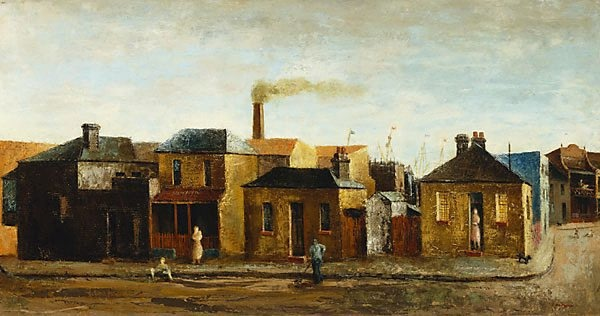 Near the docks, (1949) by Sali Herman :: The Collection :: Art Gallery NSW