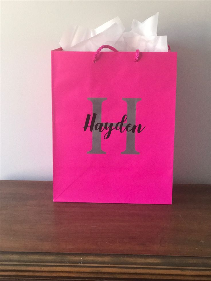 Personalized gift bags. Great for gifts or loot bags.