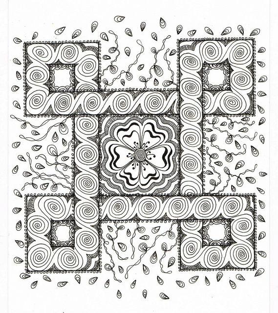 Celtic Challenge 16 finished by Judys Creative Doodling, via Flickr