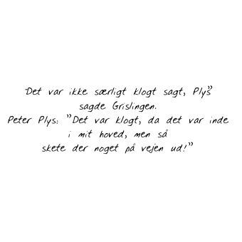 citat af den gode Peter plys og grisling