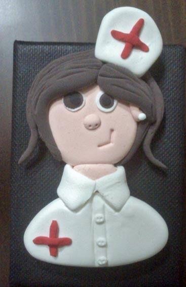 Broche de enfermera...un éxito!!