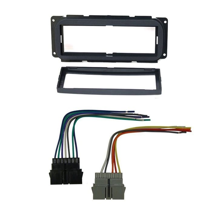 CAR STEREO DASH INSTALL MOUNTING KIT WIRE HARNESS FOR DODGE JEEP &CHRYSLER