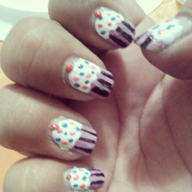 cupcake sulle unghie