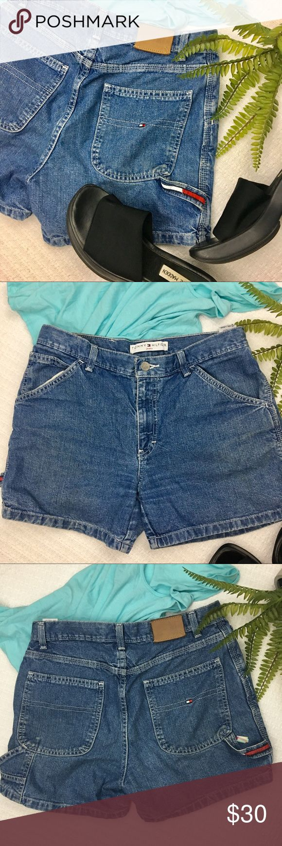 Vintage Tommy Hilifiger High Waisted Shorts Super cute vintage Tommy Hilifiger high waisted shorts! Good used condition, the back label has come off but there are still two Tommy labels on the back so people will still be able to tell they're Tommy Hilifiger 😘 The wash on the thighs are a little faded, I wasn't sure if that was intentional or from wear but I thought I'd point that out. Measurements are shown in the picture!💕 Tommy Hilfiger Shorts Jean Shorts