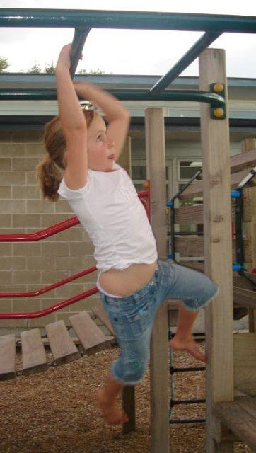 If your kids have bad handwriting, make them spend some time on the monkey bars.