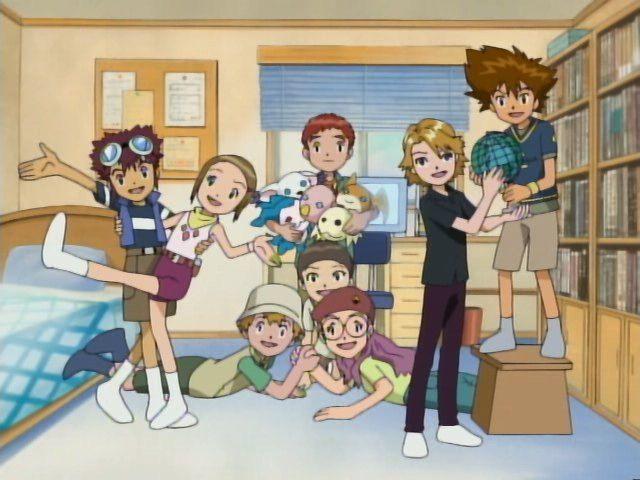 Davis, Kari, T.K., Izzy, Cody, Yolei, Matt and Tai