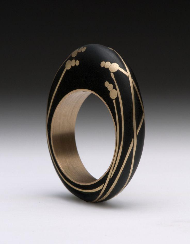 Modern black inset ring