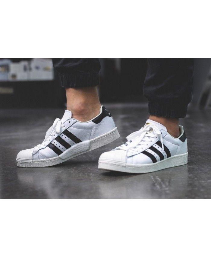 Cheap Adidas Superstar Boost White Black