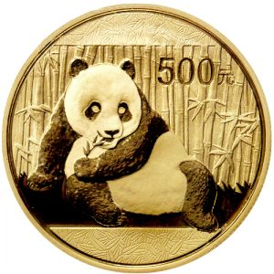 """2015 China Panda Gold Coins - 1 oz. -  Check out the newly designed 2015 China Gold Pandas. In fact, this year is a """"First-Year-of-Issue"""" in what is expected to be significant future changes in Panda coin designs. For the first time, the 2015 Pandas will no longer bear inscriptions for gold weight, content, and fineness. - www.austincoins.com/2015-china-panda-gold-coins-1-oz.html"""