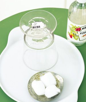 verwijder prijsetiketten met azijn