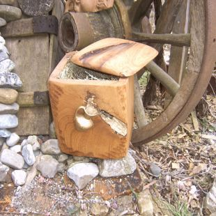 Lebenselexier - handgearbeitete Holzurne aus 400 bis 500 Jahre altem Eichenholz gefertigt, aus dem Baumbestand eines Schlossgartens.