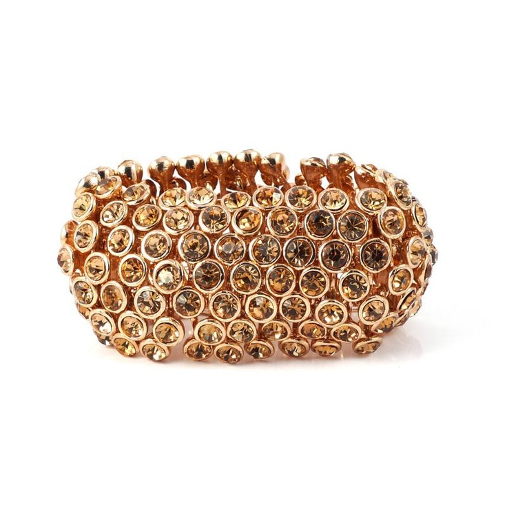 Mikey London Rose Gold Elasticated Cuff