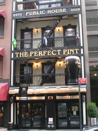 just a short walk from Broadway! Great pints and soup!