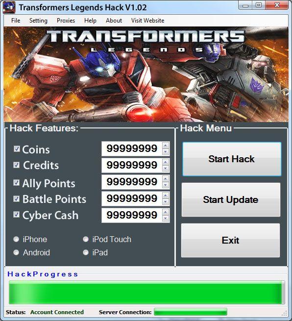Transformers Legends Hack - http://risehack.com/transformers-legends-hack/