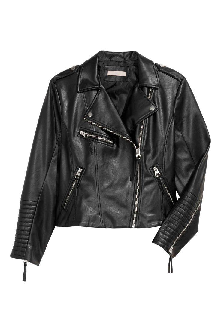 H&M+ Biker jacket - Black - Ladies | H&M GB