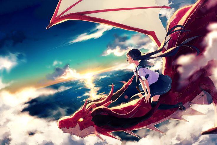 Anime girl riding