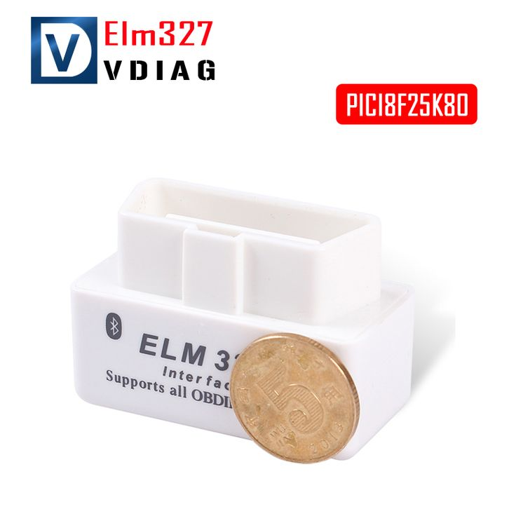 New Version V1.5 Super MINI ELM 327 Bluetooth White OBD2 / OBDII ELM327 PICI8F25K80 V1.5 Auto Code Scanner For Android Torque