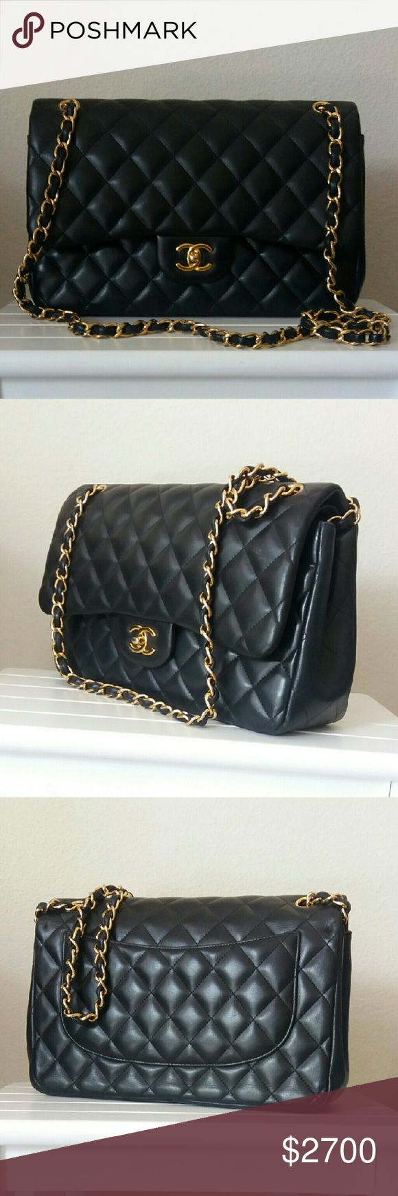 Chanel Leather Lambskin Quilted Medium Double Flap This is a classic, elegant and timeless bag, gently used by one onwer, its perfect for a formal day, and is a must in your collection CHANEL Bags Shoulder Bags