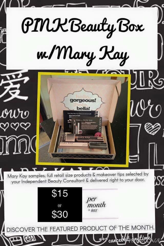 You've heard of Birchbox and Ipsy.. Now there's my PINK BOX! For $15 or $30 receive a monthly beauty box full of your Mary Kay favorites!!  www.marykay.com/airelperkins (337) 396-4346