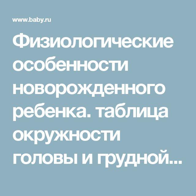 Физиологические особенности новорожденного ребенка. таблица окружности головы и грудной клетки ребенка до года. таблица роста и веса ребенка по месяцам до года. шкала апгар., размер головы и грудной клетки в 6 месяцев, таблица роста детей прибавка в в