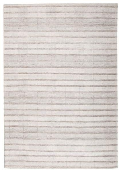 A new eye catching stripe patterned rug from our luxurious Vienna range: Vienna 2359 Hand Loomed Grey Taupe Stripe Patterned Wool and Viscose Modern Rug