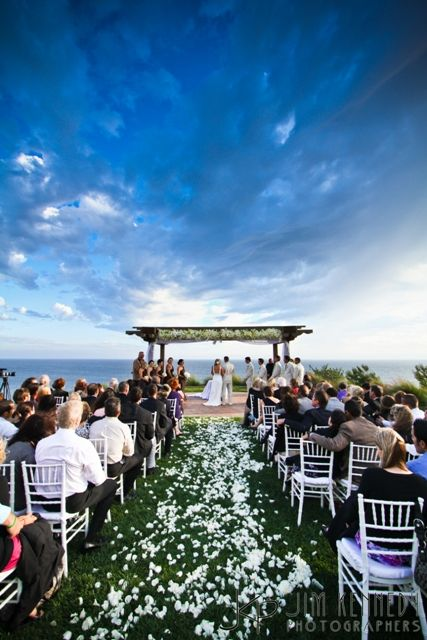 Outdoor Ceremony: A Terranea Resort Wedding in Southern California Los Angeles Rancho Palos Verdes