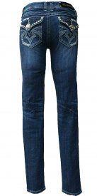 LA Idol Denim Jeans Rhinestone & Embroidery Skinny Jeans on sale discount