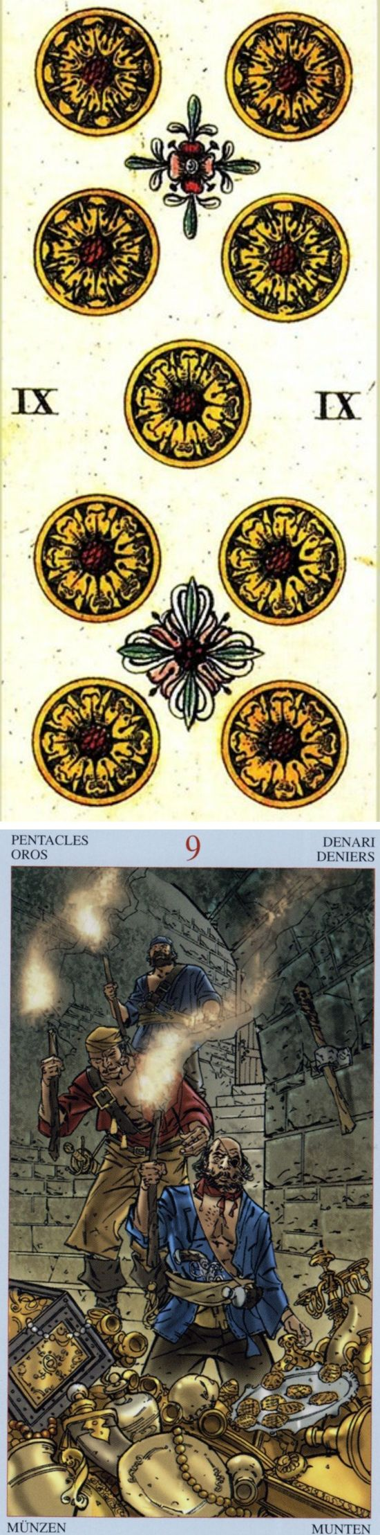 Nine of Pentacles: rewards and mistakes that have set you back (reverse). Sofani Tarot deck and Pirate Tarot deck: tarot on line gratis, free career tarot reading and lotus tarot yes no. New lenormand cards and playing cards. #ritual #lovers #ghost #ilovemywitchyways