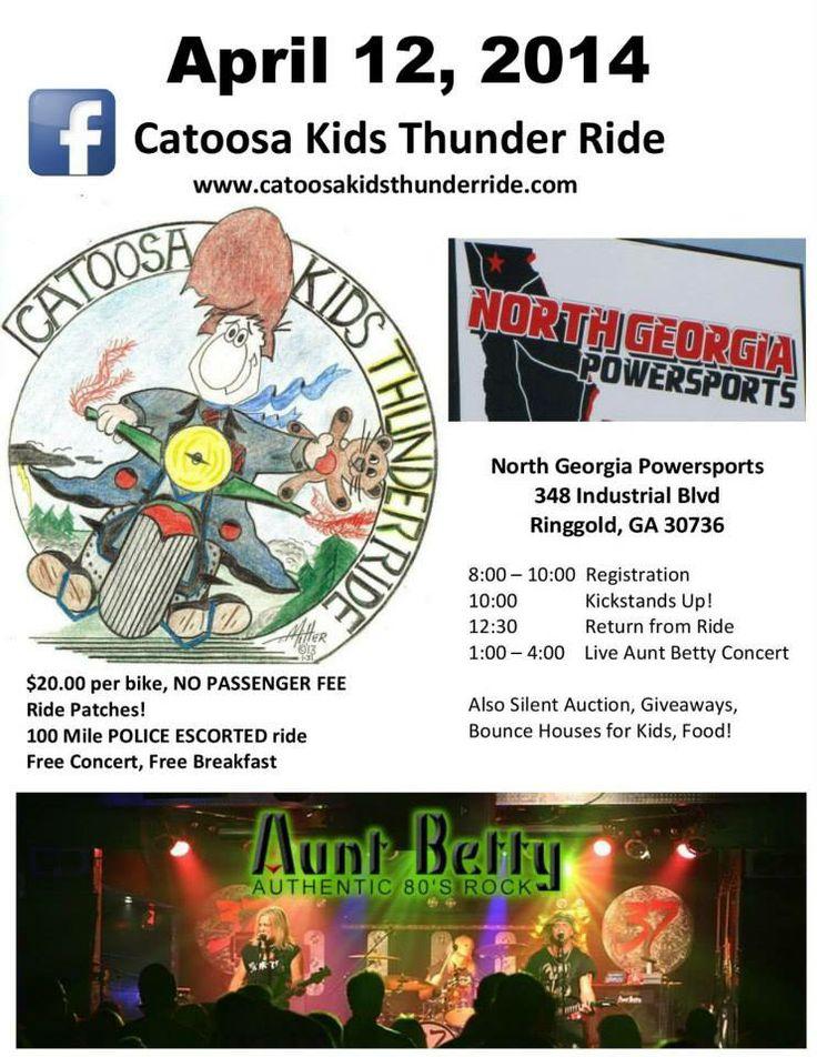 Ringgold, GA April 12, 2014 Catoosa Kids Thunder Ride