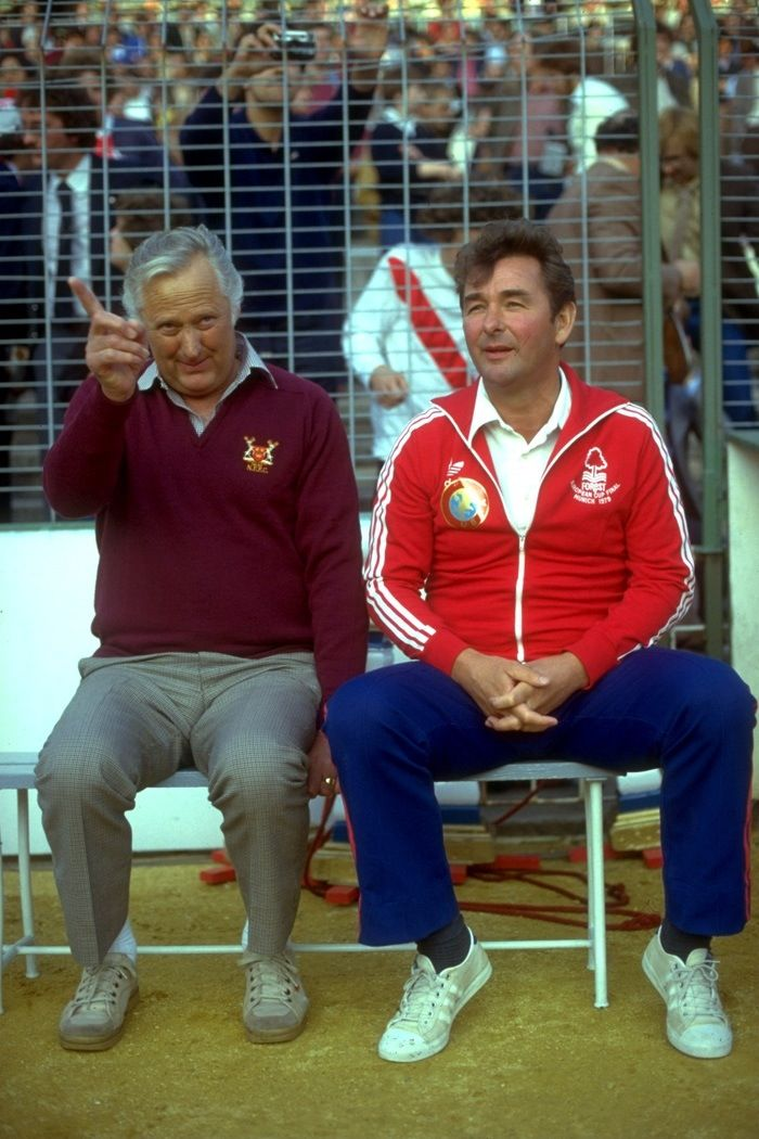 Peter Taylor and Brian Clough. 1980 European Cup Final.