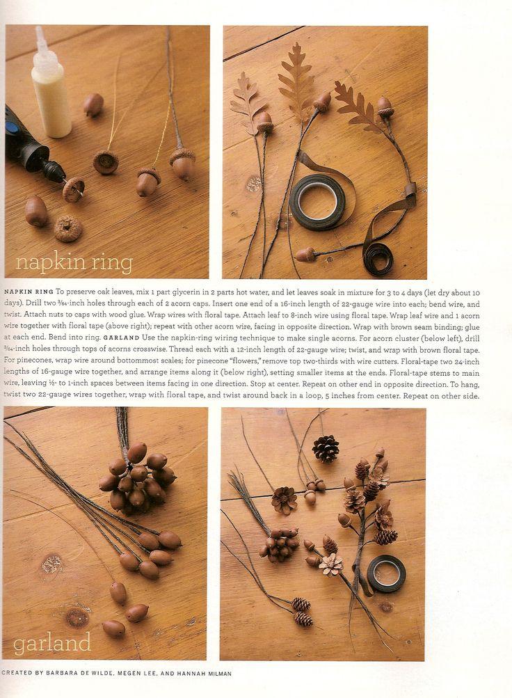 146 best images about acorns on pinterest acorn for Diy acorn crafts